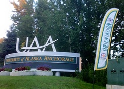 University of Alaska Anchorage entrance sign