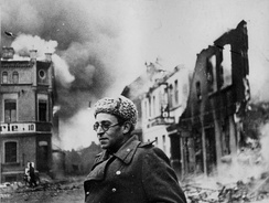 Vasily Grossman with the Red Army in Schwerin, Germany, 1945