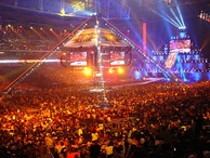 An attendance record setting 72,219 fans at the State Farm Stadium for WrestleMania XXVI
