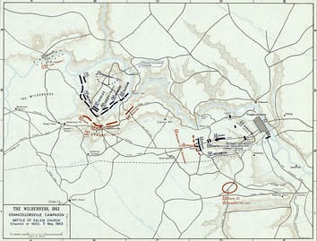 Chancellorsville Campaign, 3 May 1863 (Battle of Salem Church: Situation at 1600)