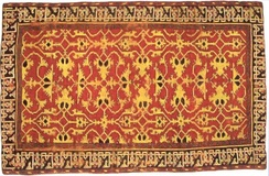"Lotto carpet with ""kufic"" border, 16th century"