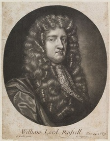 William Russell, Lord Russell (1639–1683) was one of Shaftesbury's closest political allies during the Exclusion Crisis; a leader in the House of Commons, he introduced the Exclusion Bill on 11 May 1679.