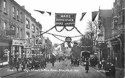 Sutton High St., Christmas, 1910