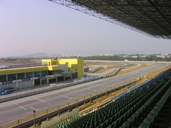 The final corner and the pit lane entrance.