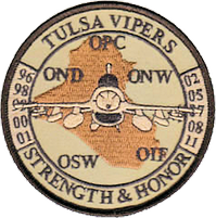125th Expeditionary Fighter Squadron Operation - multiple AEF Deployment patch (1996-2011)
