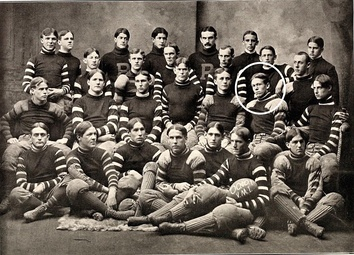 1900 VMI Keydets football team. Marshall encircled