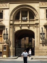 The West 72nd Street entrance to the Dakota, where Lennon was shot