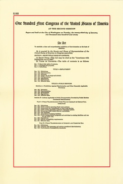 Americans with Disabilities Act of 1990, Page 1[5]