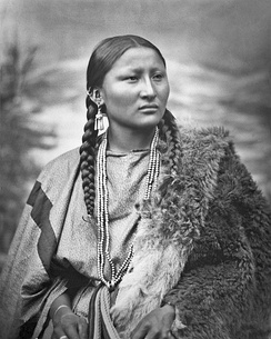 Pretty Nose who, according to her grandson, was a woman war chief who participated in the battle