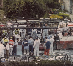 Bus after 2003 terror bombing in Haifa