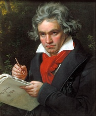 Portrait of Ludwig van Beethoven by Joseph Karl Stieler, 1820