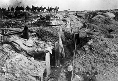 Germans passing a captured British trench