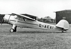 Cessna C-34 at Blackpool (Squires Gate) Airport in 1950