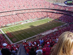 Arrowhead Stadium, home of the Kansas City Chiefs.