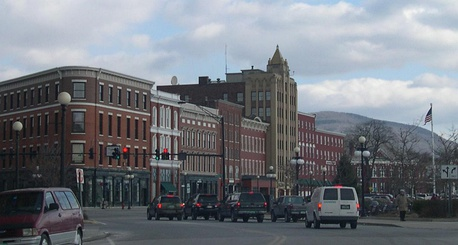 Downtown Rutland, Vermont's third largest city