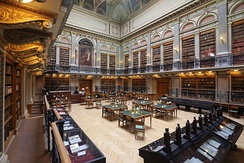 The University Library in Budapest, Hungary