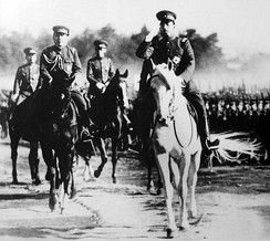 Emperor Shōwa during an Army inspection on January 8, 1938