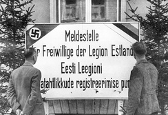 The recruiting center for the Waffen-SS Estonian Legion