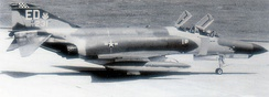 McDonnell Douglas F-4E-34-MC Phantom II, AF Ser. No. 67-0231 of the 16th Tactical Fighter Squadron on TDY from Eglin AFB Florida – Attached to 354th TFW at Kunsan AB South Korea – 1 April 1970. In 1980, this aircraft was sold to the Egyptian Air Force.