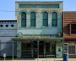 The Greenslade Drug Store in Kaufman, Texas