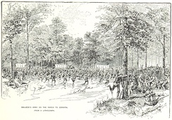 Halleck's army marches towards Corinth