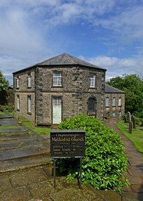 The octagonal Methodist chapel in Heptonstall is one of the oldest in England.