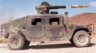 The HMMWV is a 4WD/AWD that powers all wheels evenly (continuously) via a manually lockable center differential, with Torsen differentials for both front and rear.