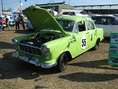 A reproduction of the Holden FE raced by McPhee in Appendix J Touring Car races in the early 1960s