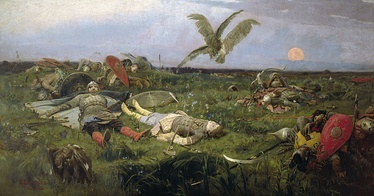 The field of Igor Svyatoslavich's battle with the Polovtsy, by Viktor Vasnetsov.