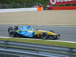 Jarno Trulli took pole position for the Renault team.