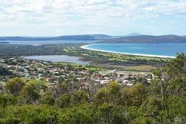 View of Lake Seppings from Mount Clarence
