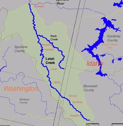 Map of the Latah Creek watershed