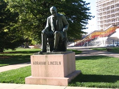Abraham Lincoln Statue in Topeka park
