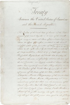 The original treaty of the Louisiana Purchase