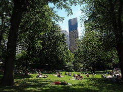 Central Park is one of the most visited urban parks in the United States.
