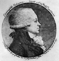 Maximilien Robespierre, physionotrace by Chrétien, the inventor.[121] By adjusting the needles of a pantograph he achieved a reduction ratio. This device was connected to an engraving needle. Thus it enabled the production of multiple portrait copies.[122]
