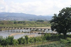 Kotsuya Bridge, as known for low water crossing place in Japan.