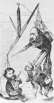Offenbach and Strauss, 1871 cartoon.