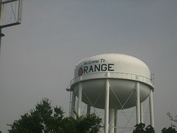 Water tower in Orange, Texas