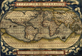 World Map by Abraham Ortelius (1570), where appears the Terra Australis Incognita.