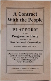 Example of a printed platform in pamphlet form: the 1912 U.S. Progressive Party platform