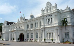 George Town City Hall, Penang, houses the office of Municipal Council of Penang Island in Malaysia