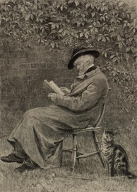 Portrait of Carlyle in his garden at Chelsea