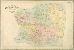 Queens County in 1891 including present-day Nassau County.