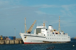 Scillonian III in St Mary's Harbour