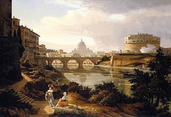 Rudolf Wiegmann, St. Peter's Basilica and Castel Sant'Angelo, 1834