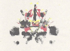 Rorschach style inkblots such as this one made up the central motif for the visuals.