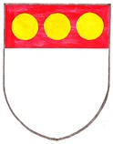 Arms of Sir John Russell, a 13th-century English courtier.[6]