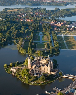 The Schwerin Palace, seat of the Landtag of Mecklenburg-Vorpommern, is one of more than 2,000 palaces and castles in the state.