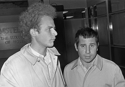 Simon & Garfunkel at Schiphol Airport, the Netherlands in 1966